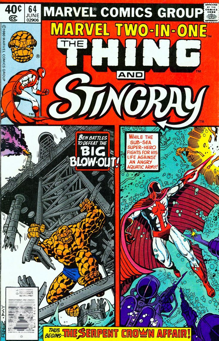 Stingray with the Thing in Marvel TwoinOne  Comic