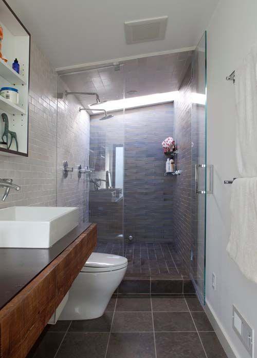 17 Best ideas about Long Narrow Bathroom on Pinterest  Narrow bathroom Modern bathrooms and