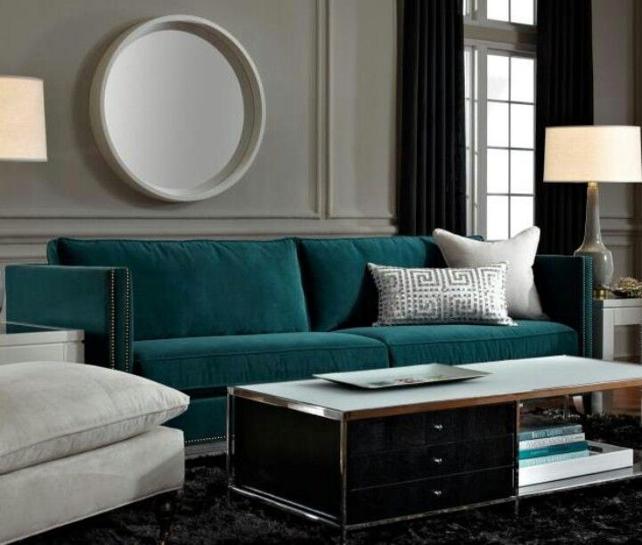 how to clean sofa arms dark grey sectional deep teal is a gem against walls, rug ...