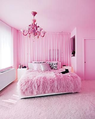 Pretty In Pink Fluffy Bedroom Decor Relax