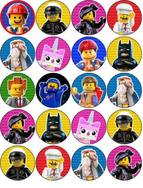 Details About The Lego Movie Edible Wafer Paper Or Icing