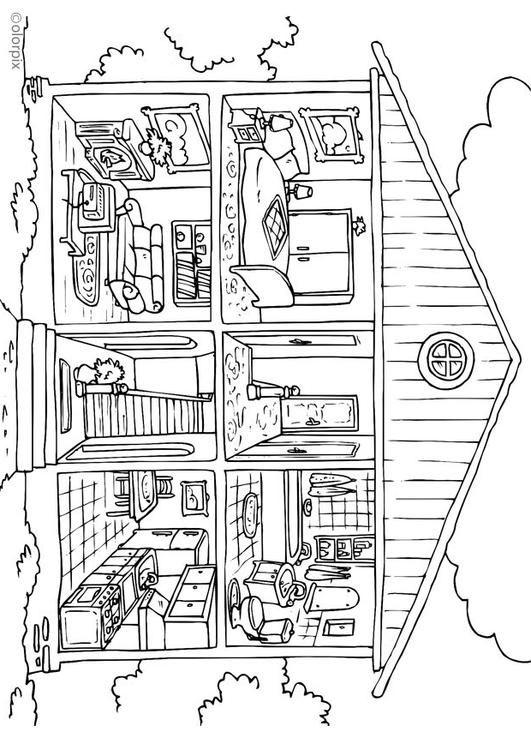 Malvorlage Haus von innen Ausmalbild 25995 Clipart