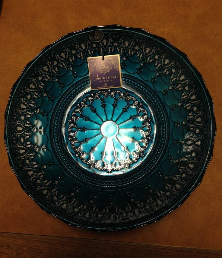New with Tag Artistic Accents Handmade in Turkey Blue Teal
