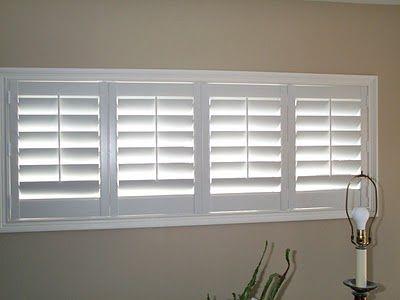 bi fold plantation shutters for the basement windows