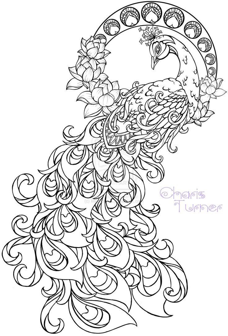 Art Nouveau Peacock Tattoo by ~Metacharis on deviantART
