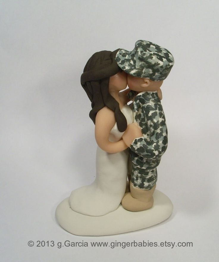 Custom Army Wedding Cake Toppers Custom Military Wedding