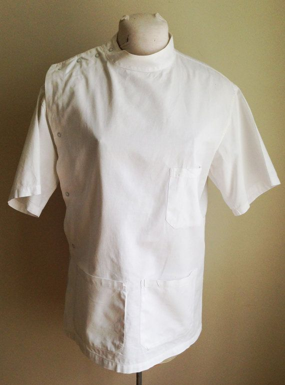 Vintage 1940s 50s Doctor Dentist Uniform Smock Size Men S