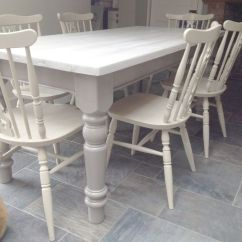 Cream Upholstered Dining Chairs Uk Adirondack Resin Given A 2 Colour Distress Using Annie Sloan Over Country Grey. Table ...