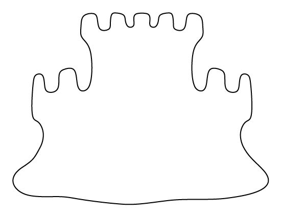 Sand castle pattern. Use the printable outline for crafts