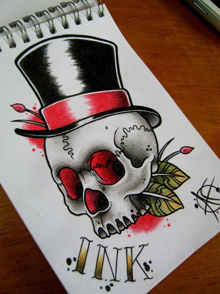 American Traditional Tattoo Skull : american, traditional, tattoo, skull, American, Traditional, Skull, Tattoo, Designs, Ideas