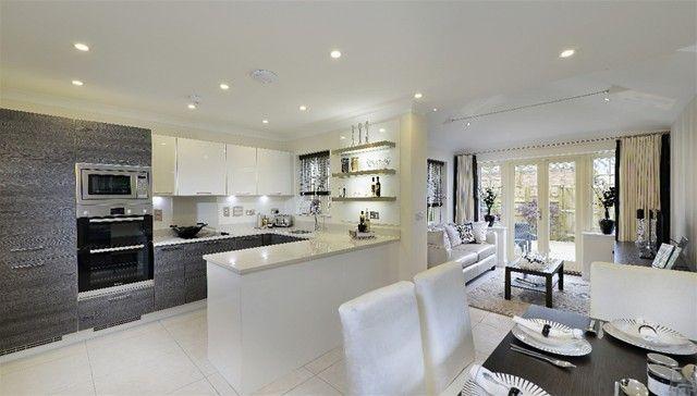 open plan kitchen dining living  Google Search  meus