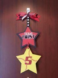 softball hotel door sign for player | Craft ideas | Pinterest