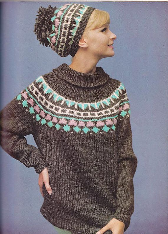 1967 Woman S Day Knitting Patterns Book Men Women Kids