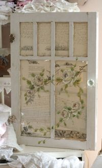 pretty vintage paper behind old window | Recycle Ideas ...