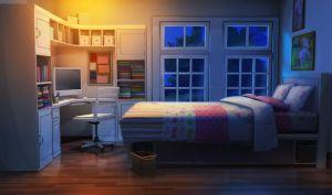 bedroom sister anime night scenery bedrooms episode teen