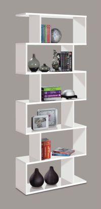 White Gloss Ziggy Bookcase Room Divider Shelf Shelving ...