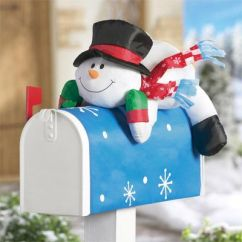 Holiday Christmas Chair Covers Big Bamboo Circle Cute Snowman For The Mailbox. This Is Perfect Winter Season. | Lighting And ...