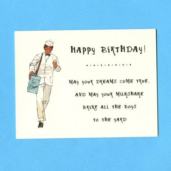 YOUR MILKSHAKE BIRTHDAY Weird Birthday Card Funny By