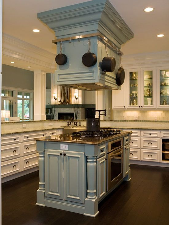 Floating kitchen island hood vent not this major but