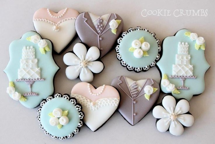 195 Best Images About Wedding Cookies On Pinterest