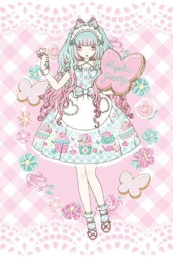Kawaii Pastel Anime Girl Wallpaper 1000 Images About Angelic Pretty Artwork On Pinterest