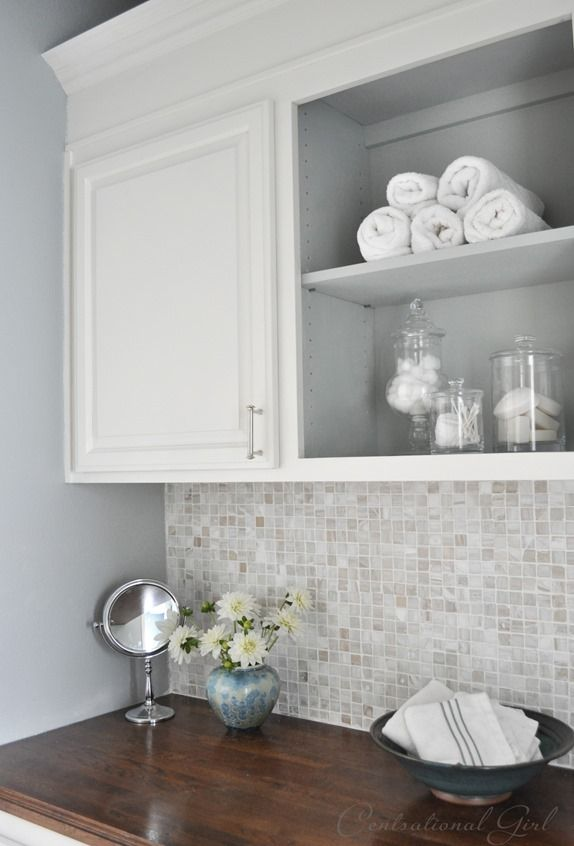 shade of blue with a hint more gray in it (Tranquility) by Benjamin Moore