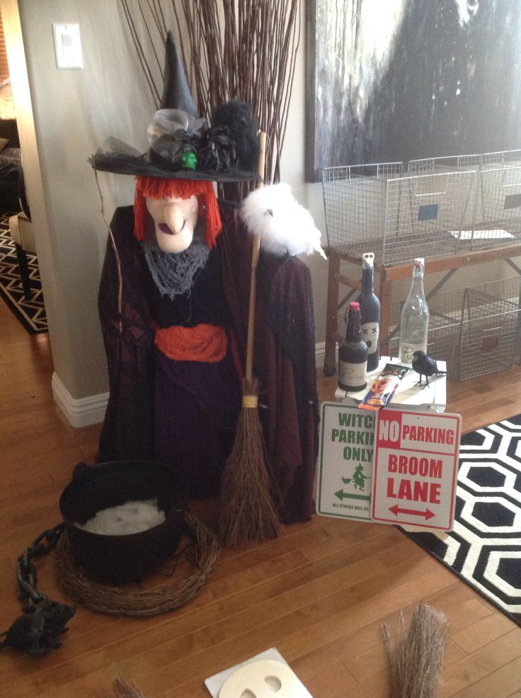 Tomato cage witch with dollar store parts to make  Tomato cage ideas  Pinterest