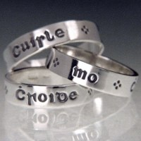 Poesy ring - Pulse of my Heart (Gaelic) Sterling Silver ...