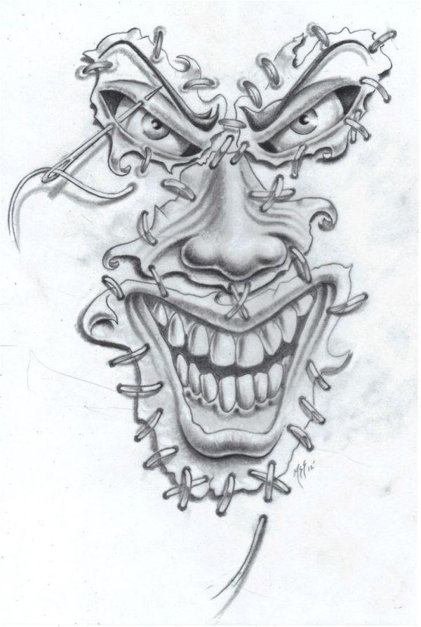 joker face tat2 commission