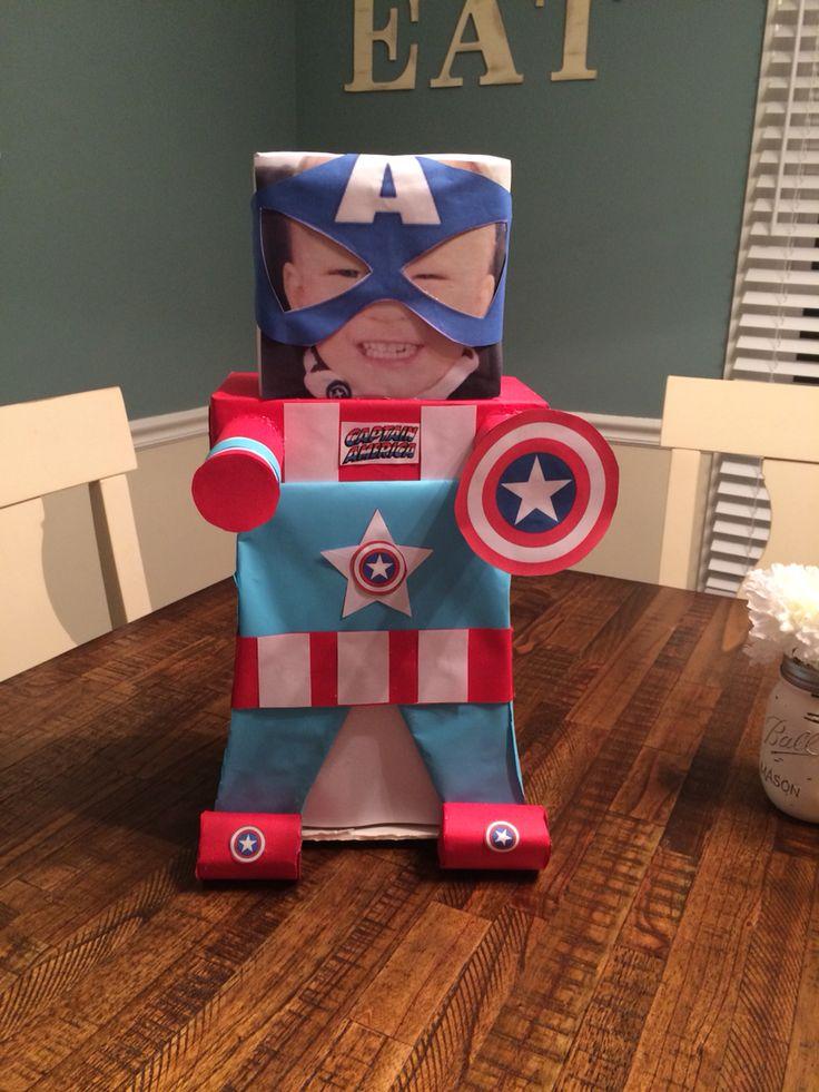 Captain America Valentine Box Hollidays Pinterest