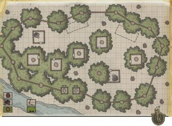 dnd maps dungeon rpg camp map bandit forest fantasy wizards camps google