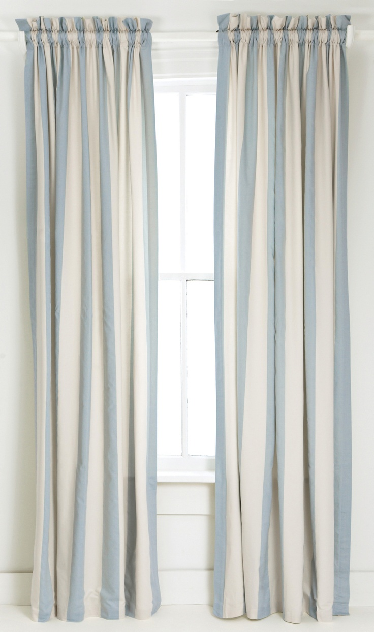 Light blue curtains - The 25 Best Ideas About Striped Curtains On Pinterest Stripe