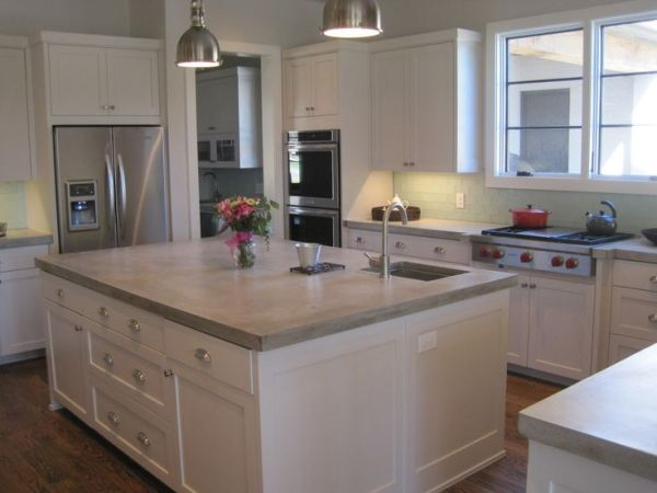 concrete kitchen countertops island 17 Best ideas about Concrete Kitchen Countertops on