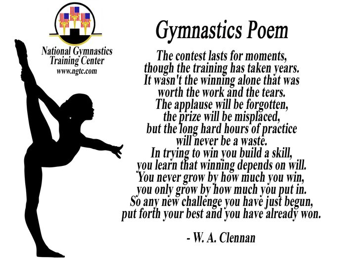 Gymnastics Quotes And Poems. QuotesGram