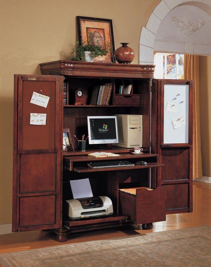 Computer Armoiregreat idea to shut away clutter since