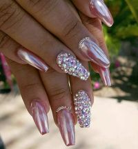 25+ best ideas about Metallic nails on Pinterest