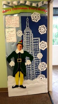 Elf movie door decoration | Craft ideas | Pinterest | Elf ...