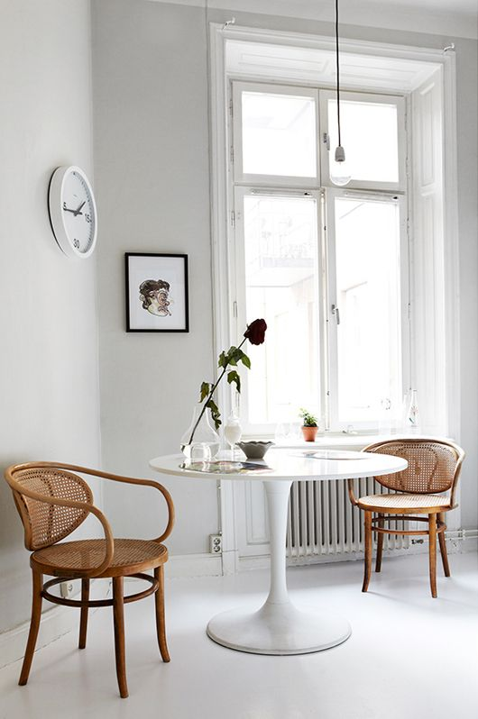 white + bentwood chairs