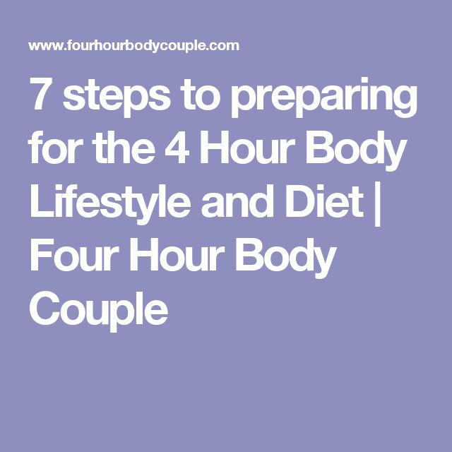 for the 4 hour body lifestyle and diet four couple