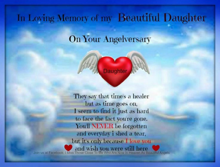 Daughter Angelversary About Loss Pinterest Home