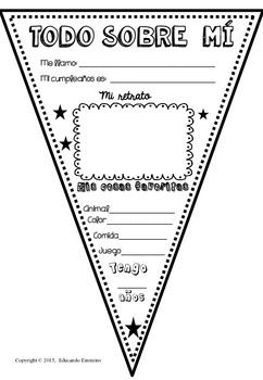 ALL ABOUT ME/ TODO SOBRE MI PENNANTS (FREE FOR FOLLOWERS