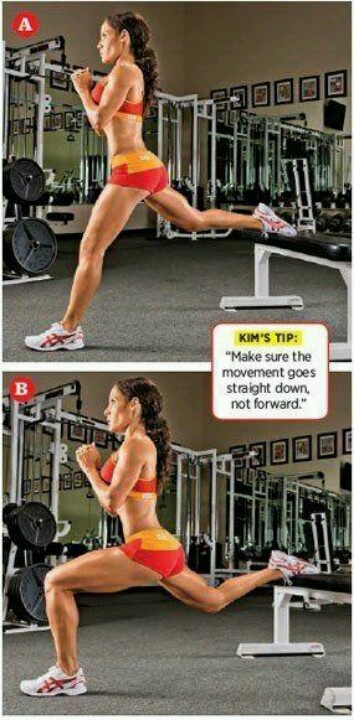Bulgarian lunges BOOM BEST lunge variation for your