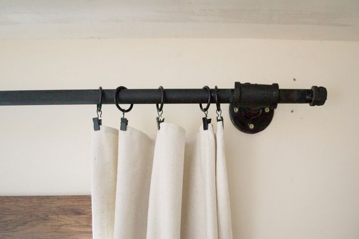 25 best ideas about Industrial curtain rod on Pinterest