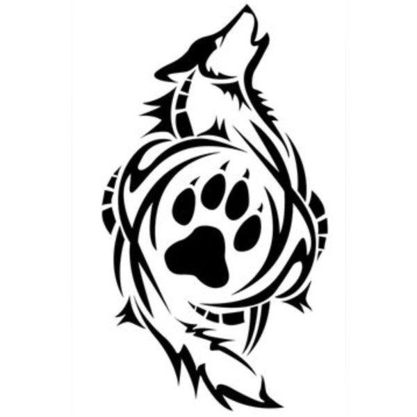Dog Paw Print Tattoo Designs For Men