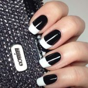 white tip nail design