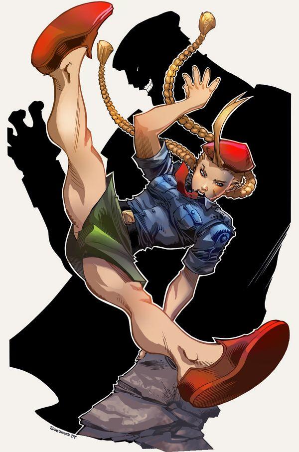 Cammy Street Fighter Line Art Chris Stevens Color