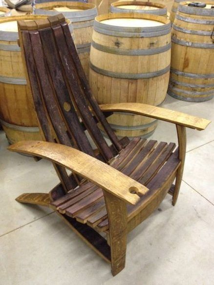 barrel stave adirondack chair plans grey velvet wine chairs   woodworking ideas pinterest chairs, barrels ...