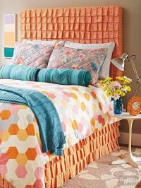 DIY Ruffled Fabric Headboard | Diy headboards, Headboard ...