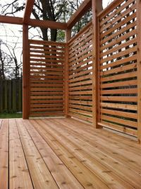 cedar stained horizontal privacy screen | Outdoors ...