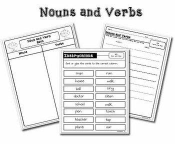 17 Best images about Noun/Verb Activities on Pinterest